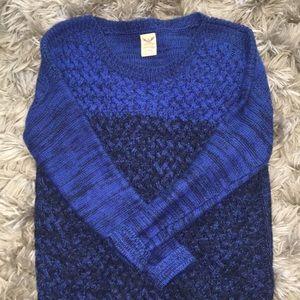 Blue Ombré Sweater
